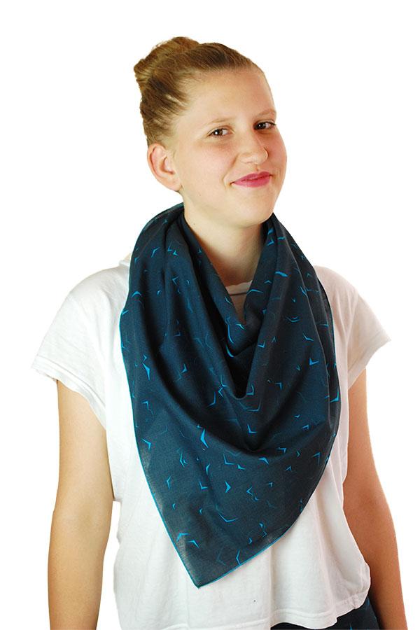 Dreieckstuch-Baumwolle_blau-gemustert