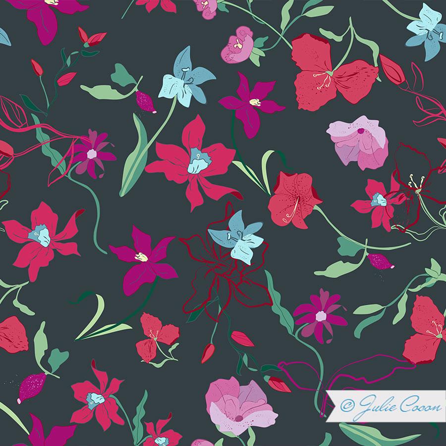 Textildesign-Blumenmuster_Julie-Cocon