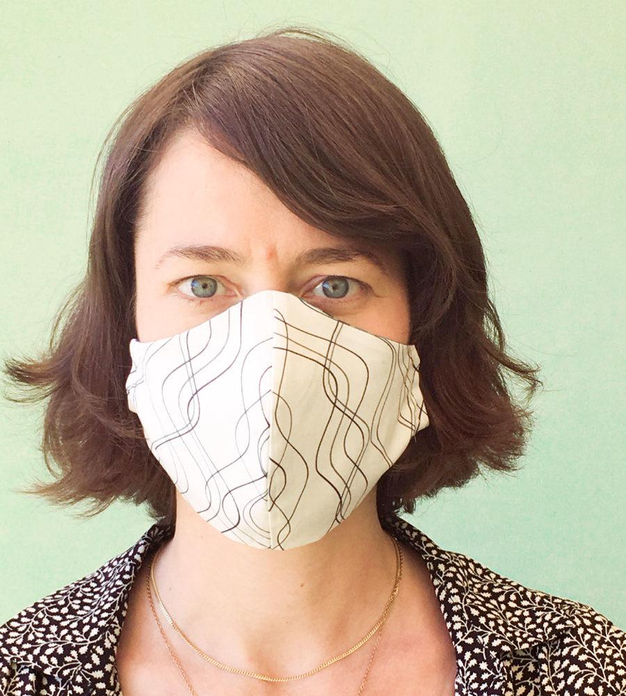 Stoffmaske-Bio-Baumwolle-Linien-weiß,