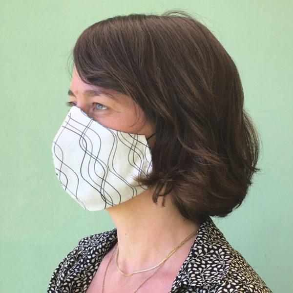 Stoffmaske-Bio-Baumwolle-Linien1-weiss