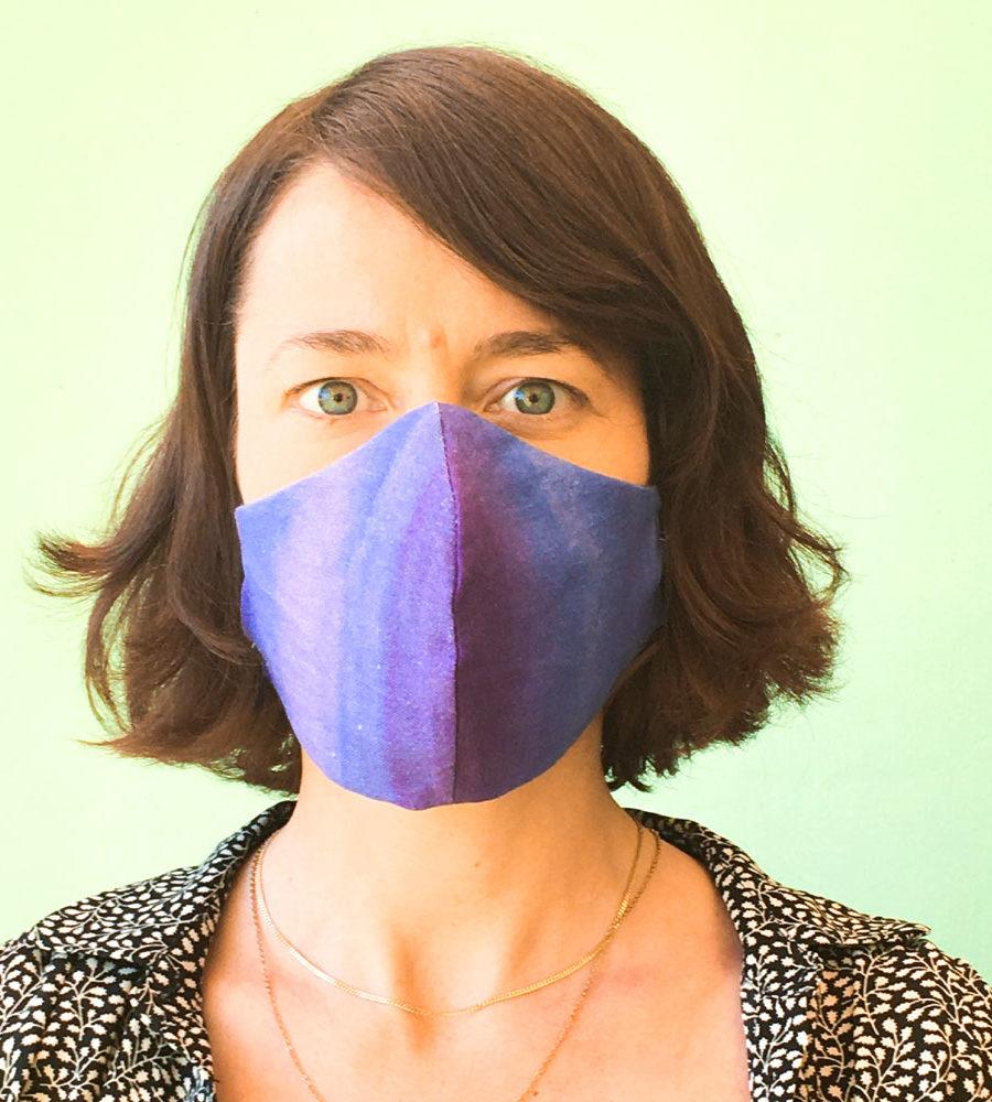 Stoffmaske-Leinen-violett