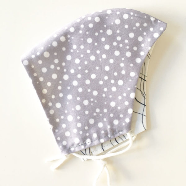 Mund-Nasen Maske aus Bio-Baumwolle Water White / Point Gray